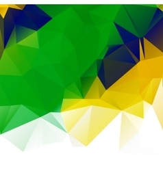 Brazil flag geometric background pattern vector