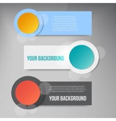 Abstract circles template banner design vector