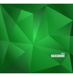 Abstract dark green triangle background vector