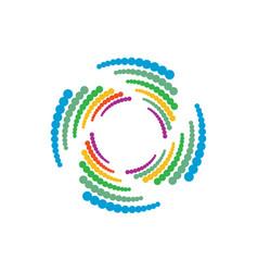 Abstract geometry circle logo image vector