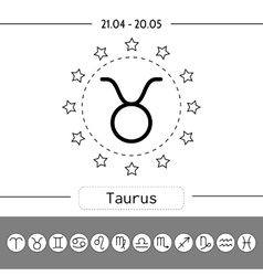 Aries Signs of zodiac flat linear icons for vector image vector image