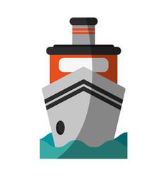 Boat flat shadow vector