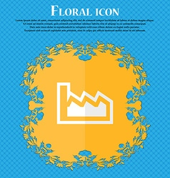 Chart Floral flat design on a blue abstract vector image