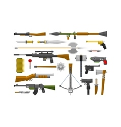 Flat weapons vector image