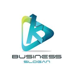 letter k media logo vector image vector image