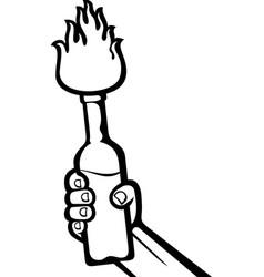 Molotov Cocktail Icon vector image vector image