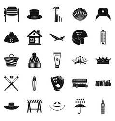 Napper icons set simple style vector