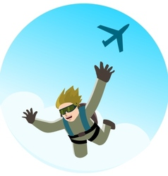 Parachute jumping vector