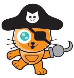 Pirates cat vector