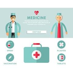 Profession concept medicine flat design concepts vector