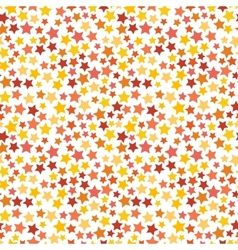 Red yellow and orange stars on white seamless vector image vector image