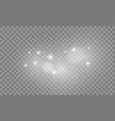 set of white lights effects isolated on vector image vector image