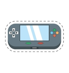 Video gamepad portable technology vector