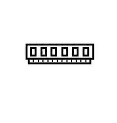 Virtual memory ram icon vector