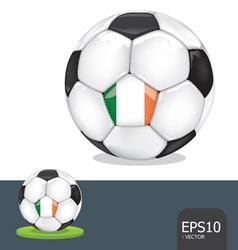 soccer euro ireland vector image