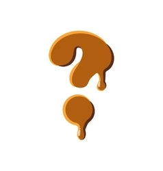 Question mark from caramel icon vector