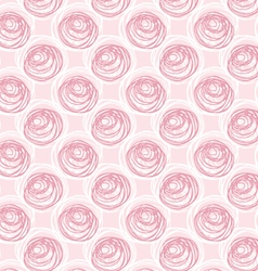 Scribbled circles big and small layered on pink vector