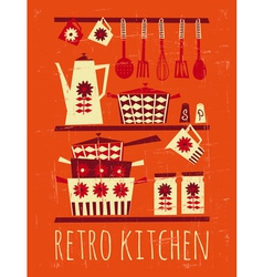 Retro kitchen poster vector