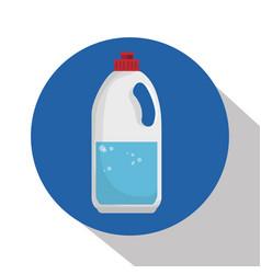 detergent bottle laundry icon vector image