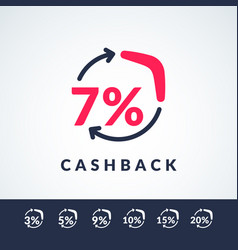 Modern of cash back with the vector