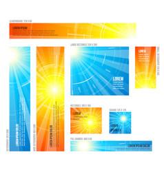 set of hot summer sun banners vector image