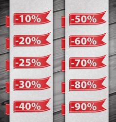 Set of percent discount digits vector