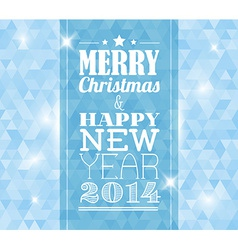 Vintage retro christmas card on blue background vector