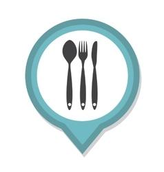 Restaurant menu icon with long shadow vector