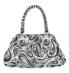 Modern handbag vector