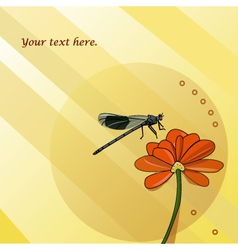 summer insect vector image