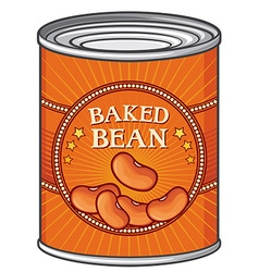 Baked beans can vector