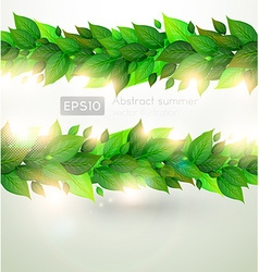 Abstract leaf design vector