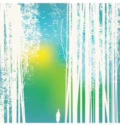 forest and road vector image