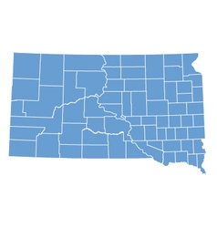State map of south dakota by counties vector