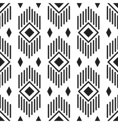 Black and white ethnic geometric pattern vector image