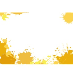Background with yellow blotches vector