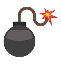 Bomb with burning wick vector