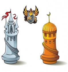 chess set rooks vector image