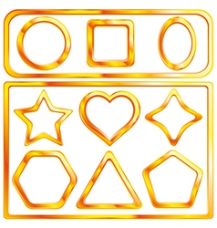 collection of a 11 gold frames vector image vector image