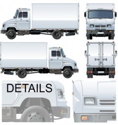 delivery cargo truck vector image vector image