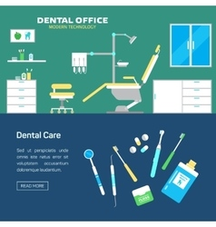 dental office with seat and equipment tools vector image