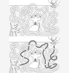 Fish tank maze vector