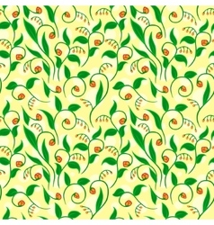 Floral pattern with yellow dots vector