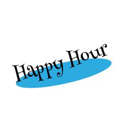 Happy hour rubber stamp vector