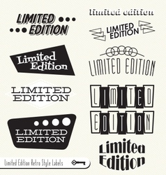 Limited Edition Labels vector image vector image