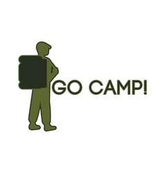 Logo for the campground vector image vector image