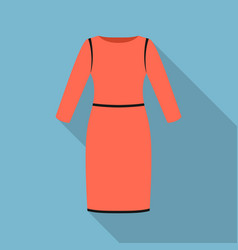Long dress icon of for web and vector