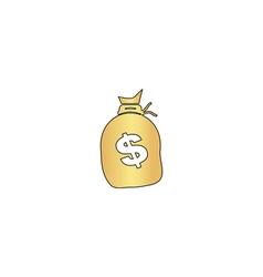 Money bag computer symbol vector image vector image