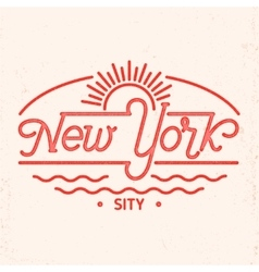 New York city line art design vector image vector image