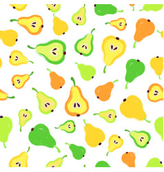 Pear background painted pattern vector